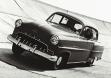Opel Olympia Rekord проходит испытание на полигоне Opel в 1953 году