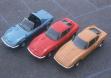 Слева направо: Opel Aero GT, Opel GT, Opel Experimental GT
