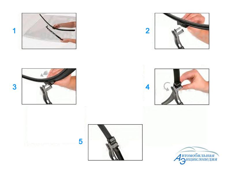 Инструкция по замене щеток стеклоочистителя (дворников) на Opel Astra H